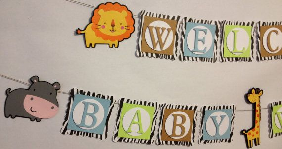 Welcome Baby Banner Party Decorations By FitchCraftCreations, $28.00
