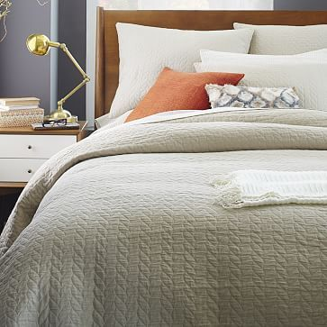 Organic Braided Matelasse Duvet Cover Shams Stone Westelm Want Something New For My Bed Don T Know If I Want