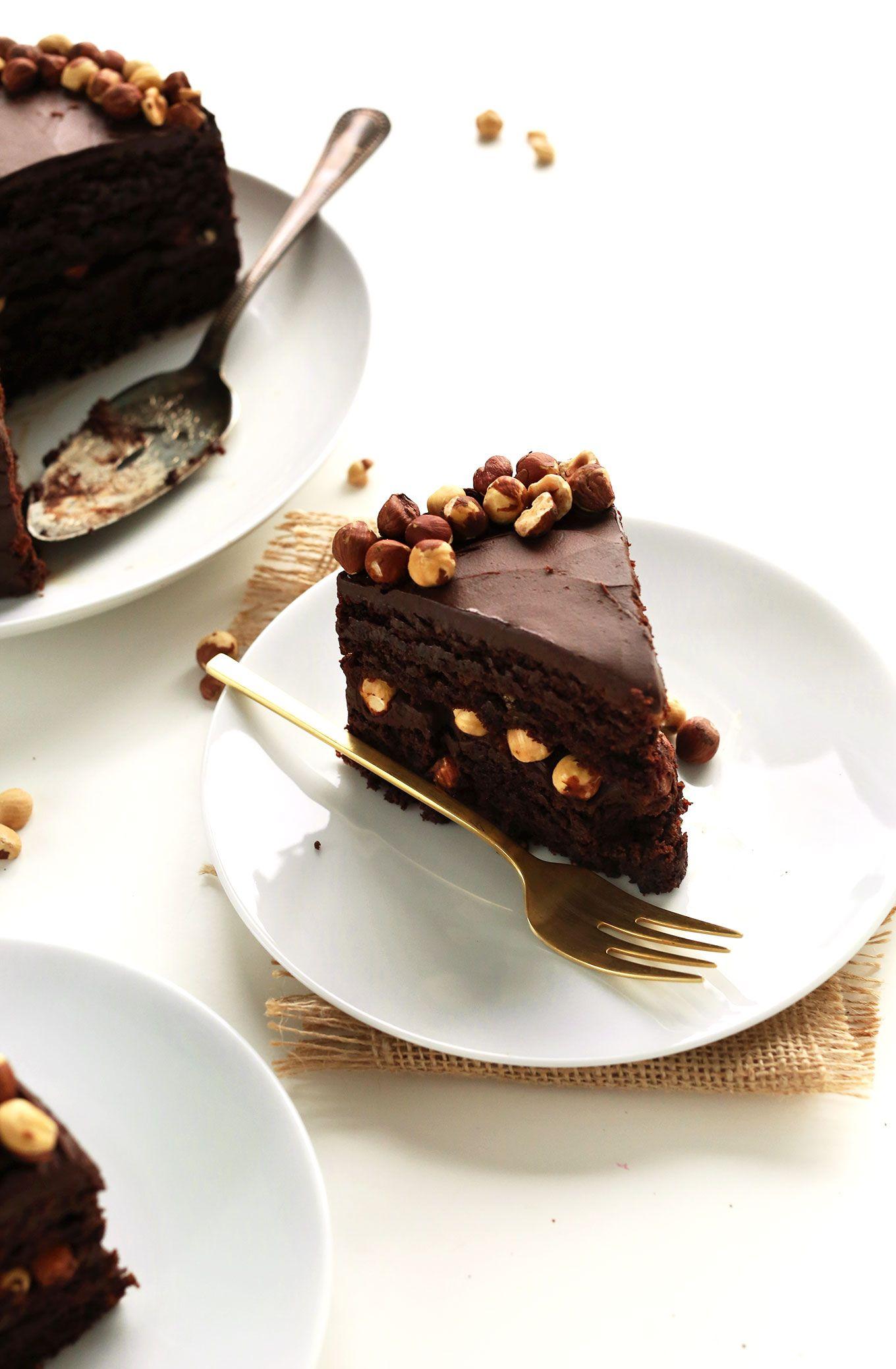 AMAZING Vegan Chocolate Hazelnut Cake! 1 bowl, SUPER RICH, and #glutenfree #vegan
