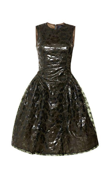 Khaki Embroidered Plastic Dress by Simone Rocha - Moda Operandi