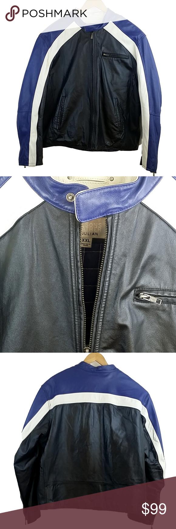 Wilson's M. Julian Leather Racing Jacket Fashion