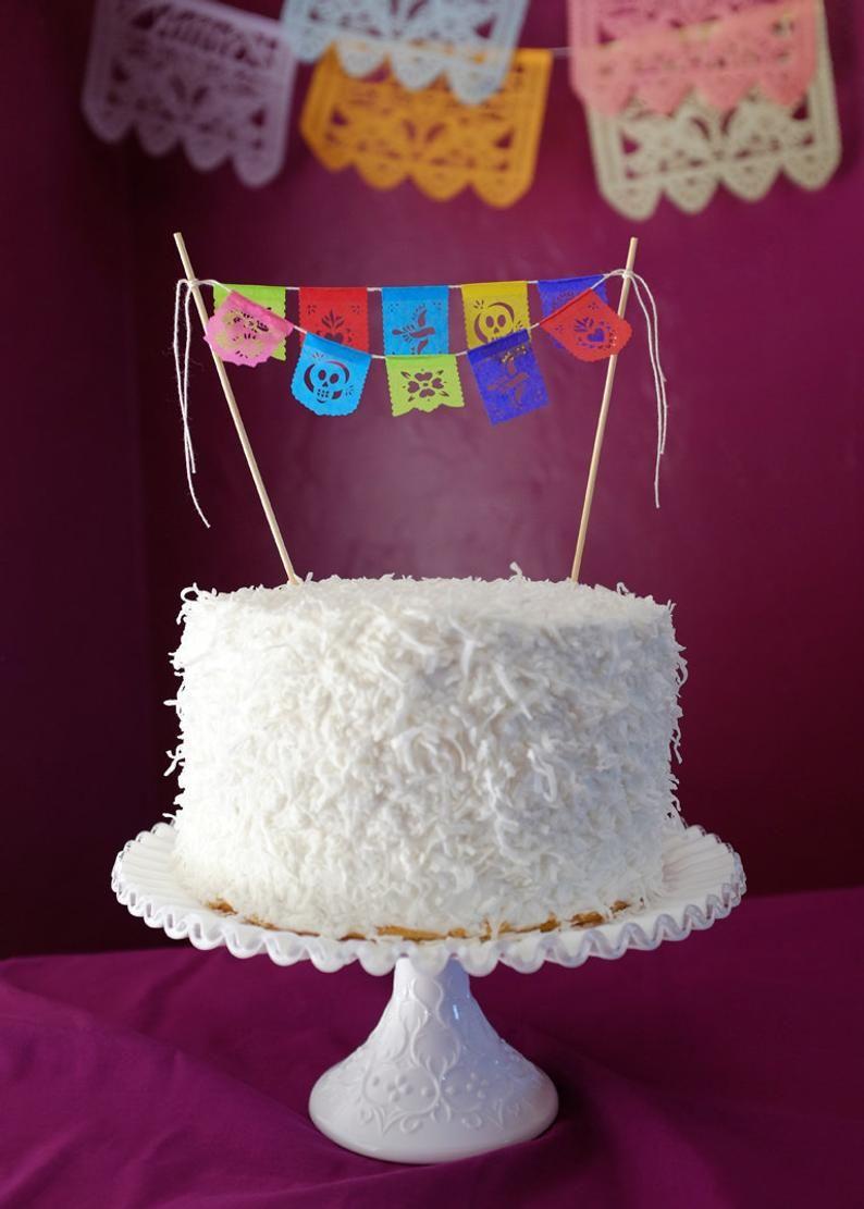 Fiesta Papel Picado Cake Topper Banner