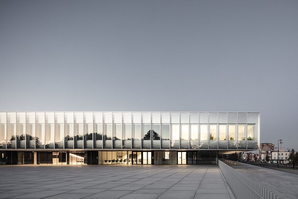 Kaan Architecten And Pdaa Built Monolithic Glazed Cma Headquarters In Lille Building Hotel Architecture Architecture Company