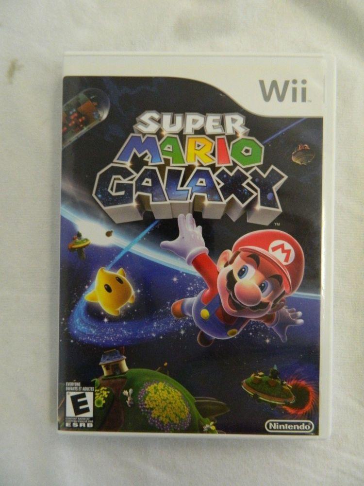 Super Mario Galaxy (Nintendo Wii, 2007) Complete Super