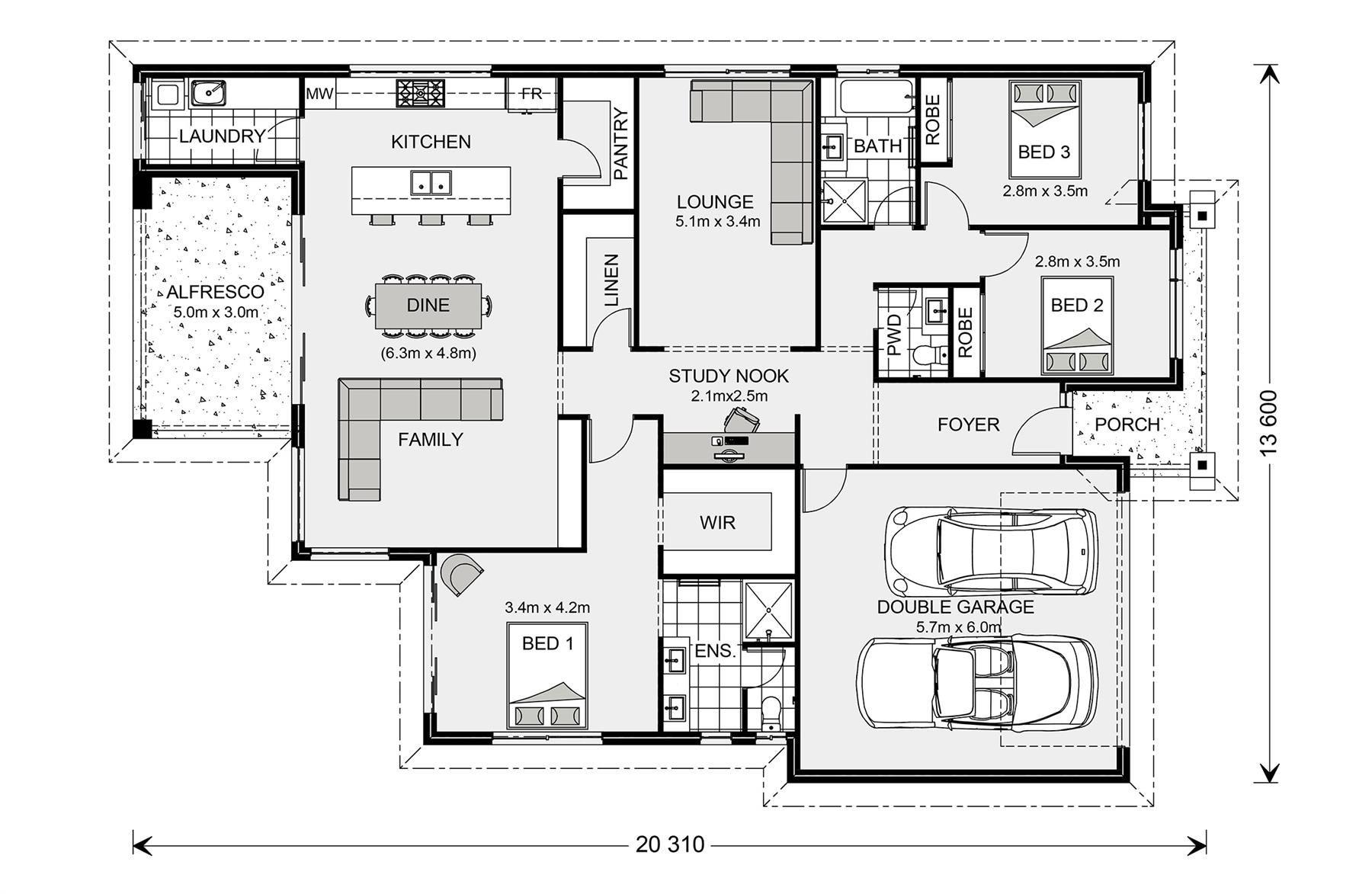 Newport 284 Design Ideas Home Designs In Launceston G J Gardner Homes House Design Floor Plan Design Floor Plans