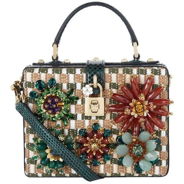 Dolce & Gabbana Dolce Box Snakeskin and Floral Shoulder Bag YIfh6