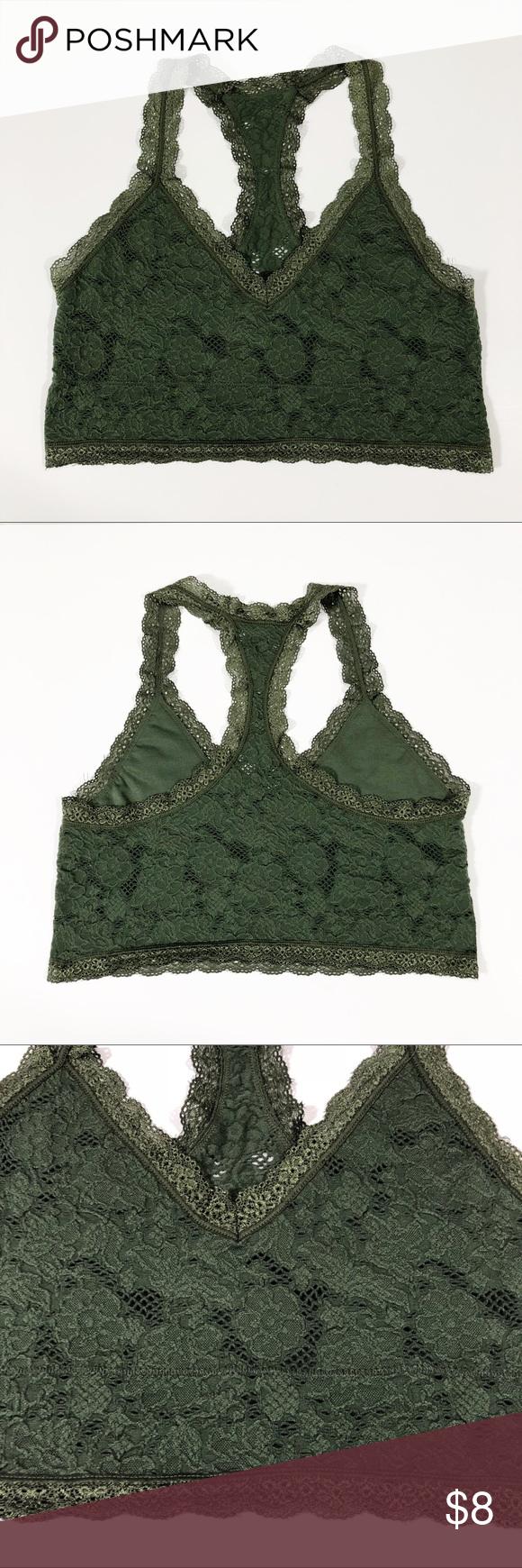 af0d43569b2 CC Olive Green Lainie Bralette Charming Charlie Lainie Bralette Details  Olive  green lace bralette with