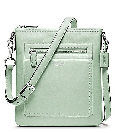 COACH LEGACY LEATHER SWINGPACK #Dillards, but in turquoise