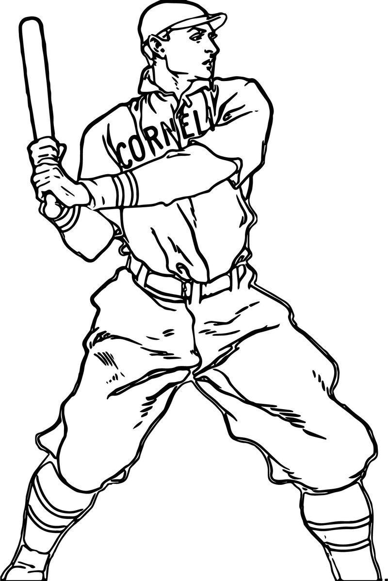 Baseball Player Man Baseball Coloring Page. Also see the ...