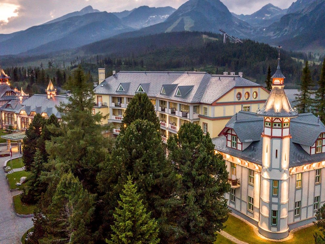 Luxury 5 Star Hotel On Lake Strbske Pleso Grand Hotel Kempinski High Tatras Grand Hotel High Tatras Hotel
