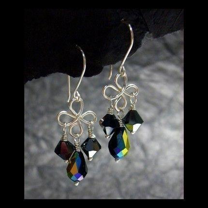 Jewelry Tutorials Earrings -Crystal Wire Loop Earrings