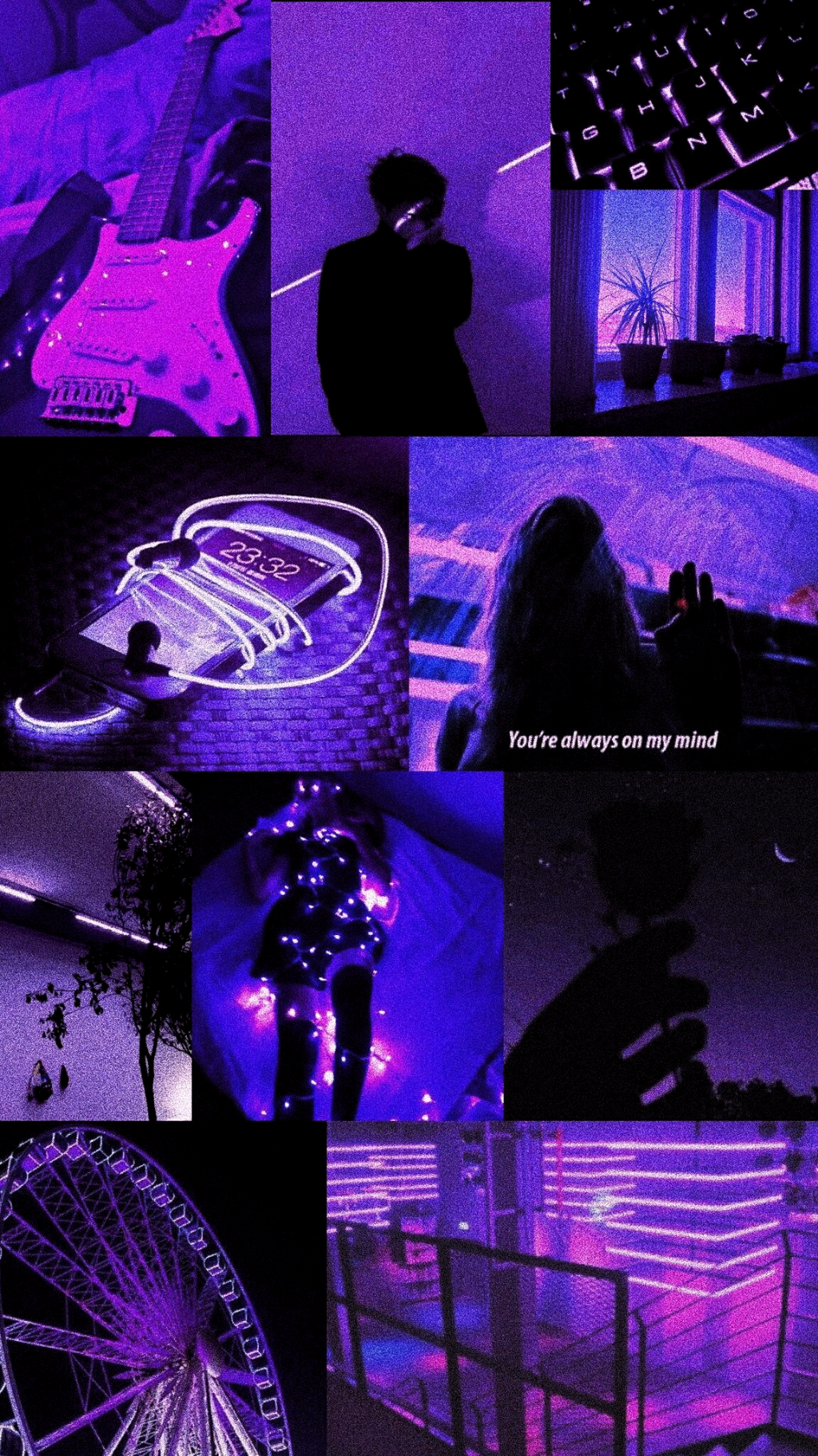 Purple Led Aesthetic Wallpaper