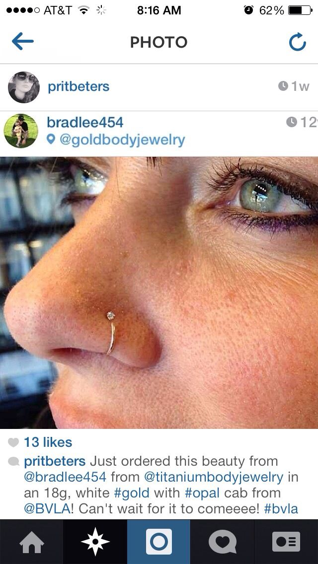 Bvla Nostril Nose Ring Nose Piercing Jewelry Nose Piercing