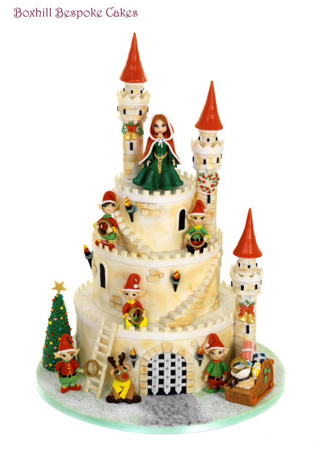 Christmas Castle Five Gold Rings Cake By Noreen Box Hill Bespoke Cakes