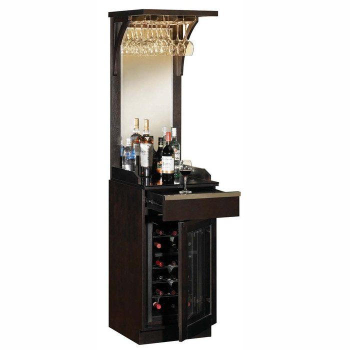 Wine refrigerator save cortina tresanti wine cabinet for How to build a mini bar cabinet