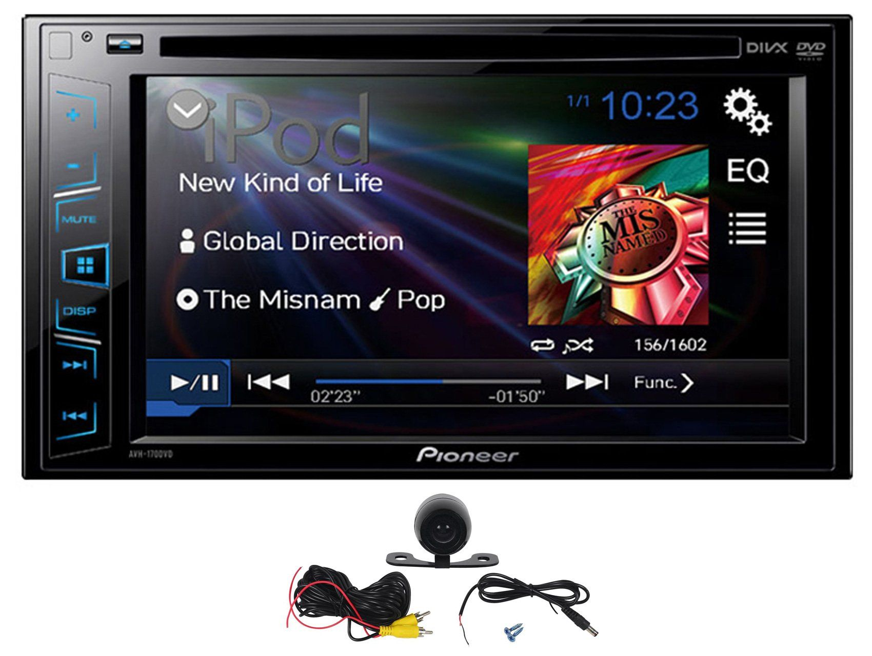 Package pioneer avh 170dvd 6 2 double din car dvd cd player receiver