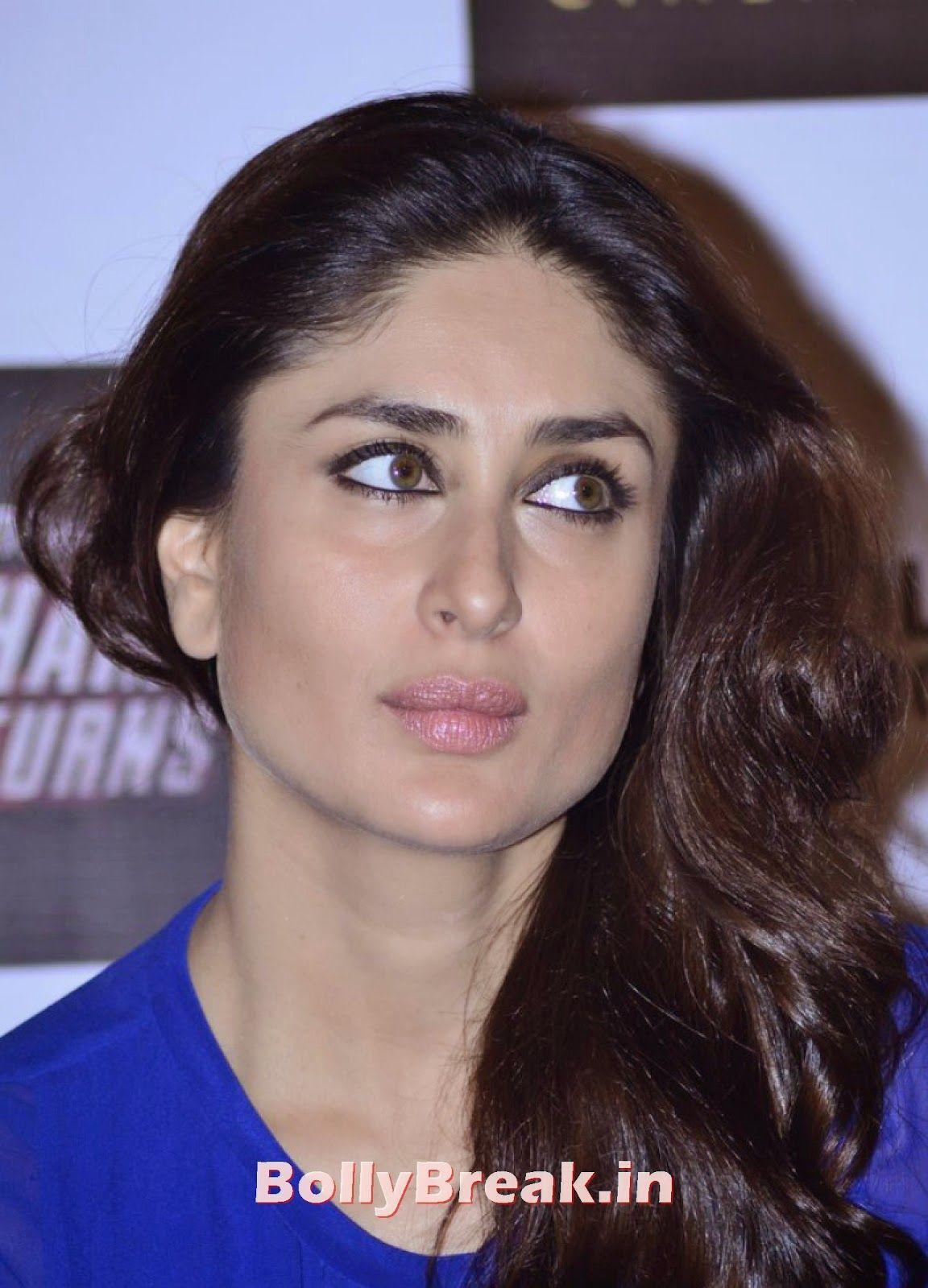 Kareena Kapoor Pics In Blue Movie Singham Returns Merchandise Launch Singham Returns Merchandise Bollywood Hairstyles Bollywood Makeup Kareena Kapoor Pics