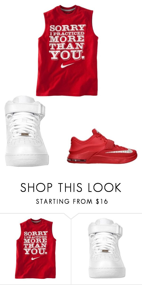 """""""Forces or Kd's"""" by brooklyn-taylor-ford ❤ liked on Polyvore featuring NIKE"""