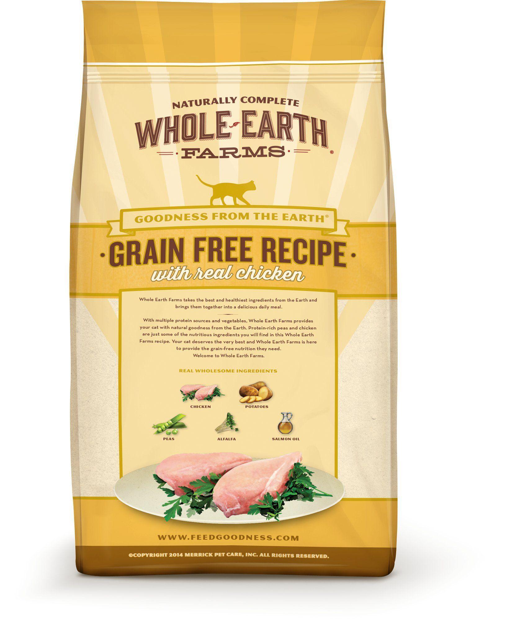 Whole Earth Farms Grain Free Recipe Dry For Cat Ad Grain
