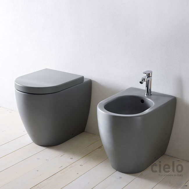 Back to wall wc colored Brina Smile  Water closet colored