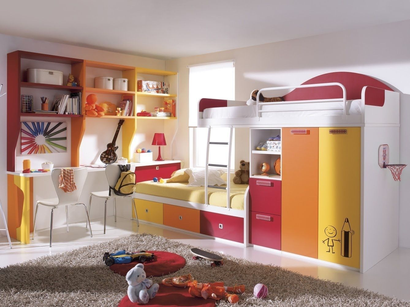 Bedroom ideas with loft bed  Pin by Valentina Rennee on Kids Room  Pinterest  Kids rooms and Room