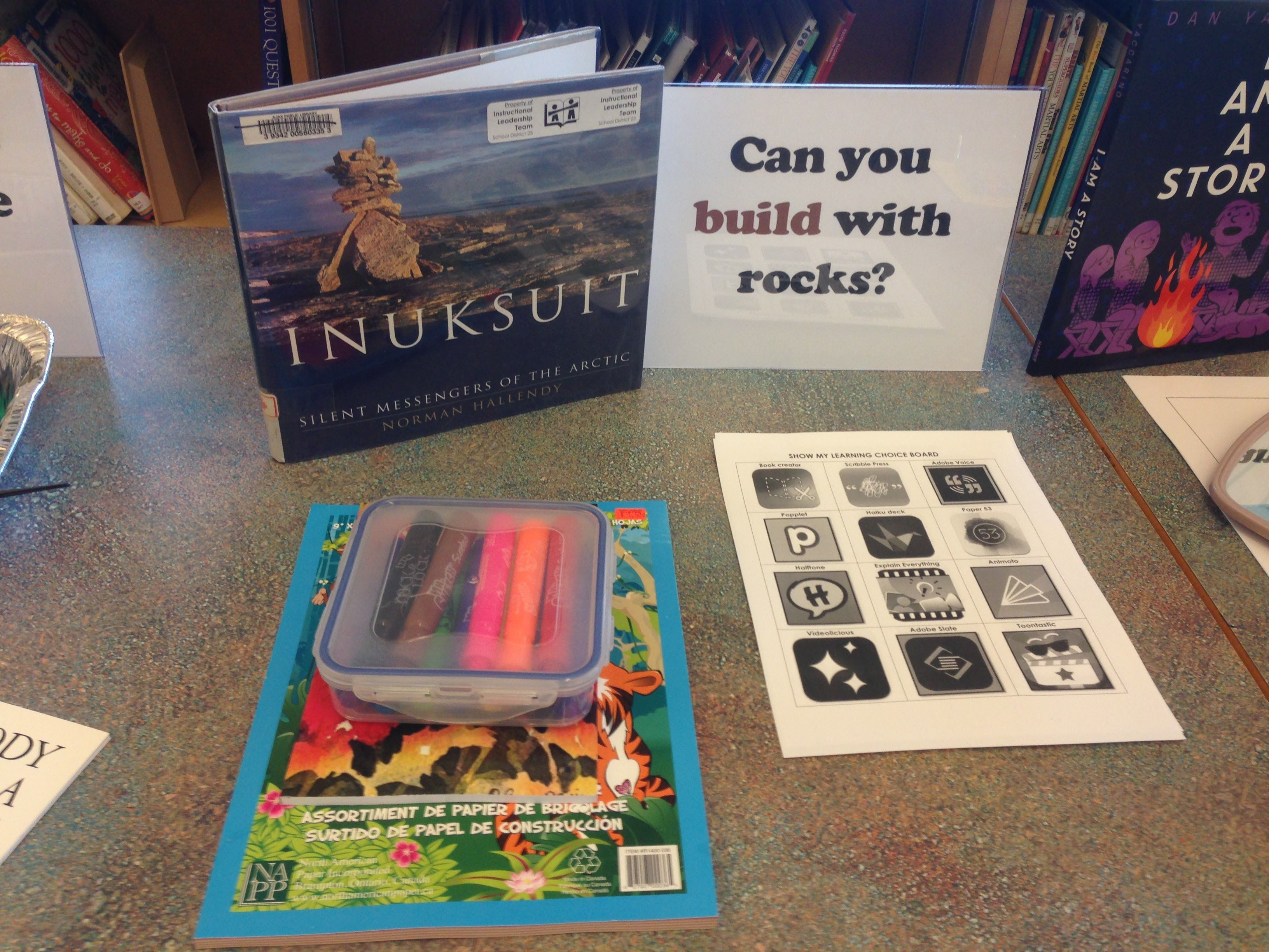 Provocation Table What Can You Build With Rocks Provocations Book Cover Canning