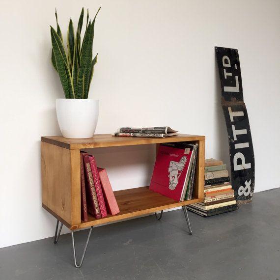 Soporte de peque o tocadiscos stanton vinilo mueble consola en medio siglo horquilla patas - Mueble para tocadiscos ikea ...