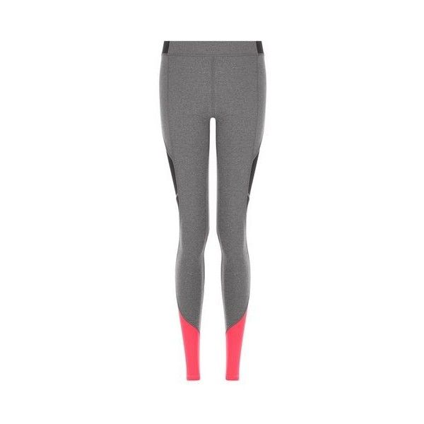 Colour Block Ankle Legging by Ivy Park (346775 PYG) ❤ liked on Polyvore featuring activewear, activewear pants, pink and logo sportswear