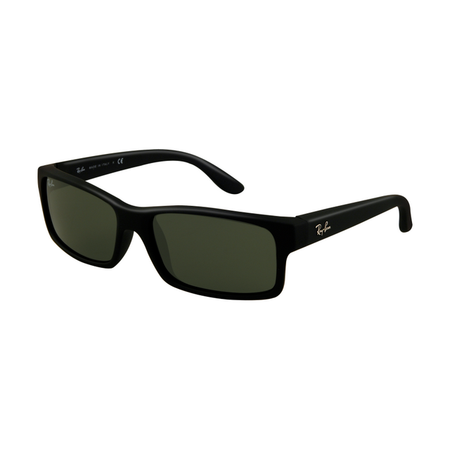 3ff45890290 Ray Ban RB4151 Sunglasses Black Rubberize Frame Green Lens hunting for  limited offer