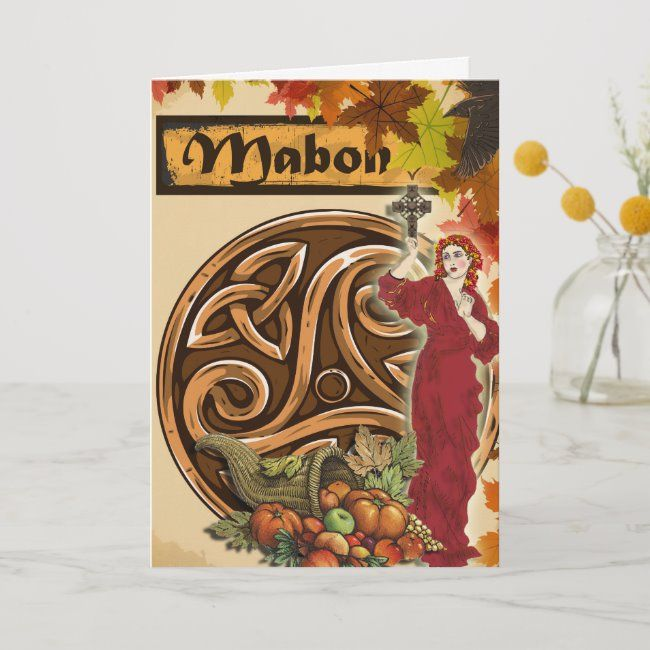Mabon Autumn Equinox Pagan Greeting Card | Zazzle.com #autumnalequinox