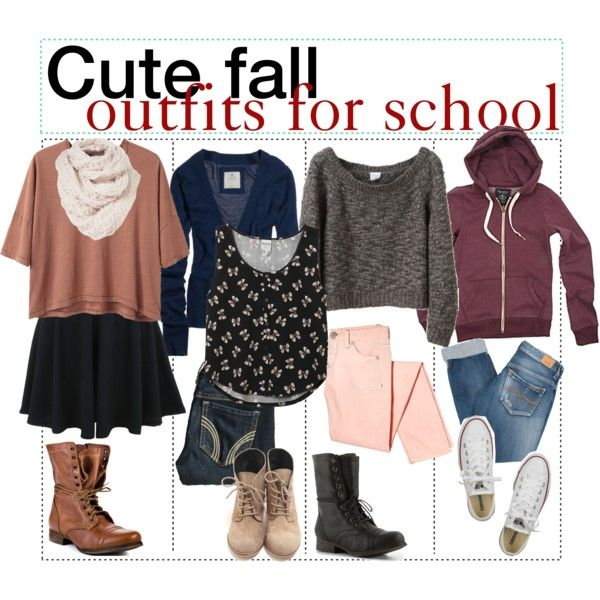 Cute fall outfits for school , Polyvore