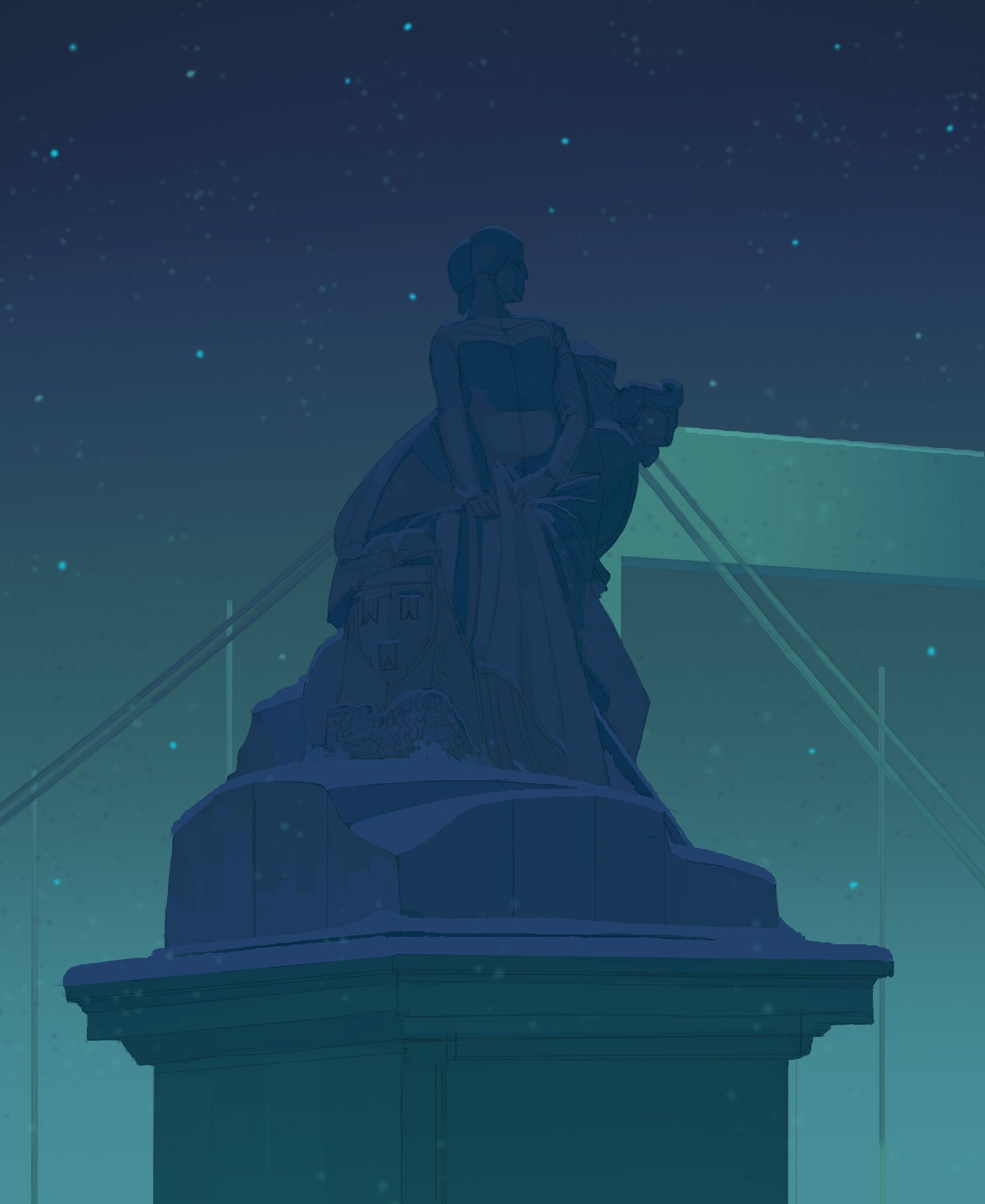 Анимация статуи свободы Чики во фнаф ар.Liberty Chica full ...