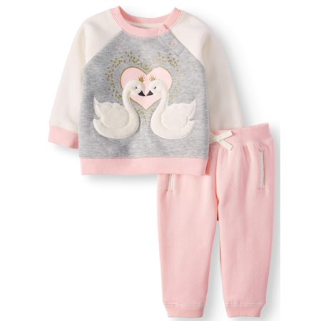 100/% Organic Cotton-Made in The USA TwOOwls Pink//Pink Baby Pant