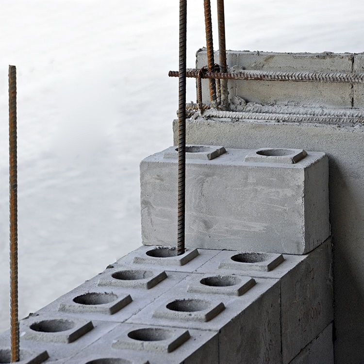 Cellular Concrete Block / Hollow / For Load Bearing Walls / For Seismic  Zones 3C