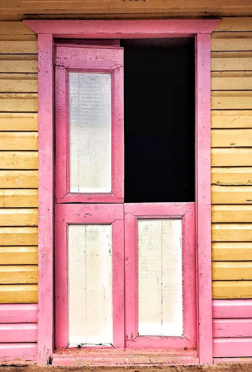 Pink yellow colour pinterest dominican republic doors and gates