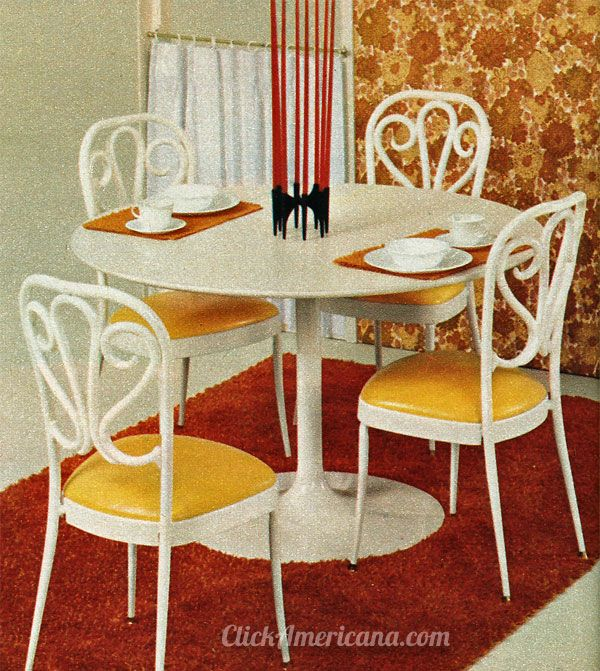 Vintage Dinettes From The 60s 70s Take A Seat Retro Room Dinette Dinette Sets