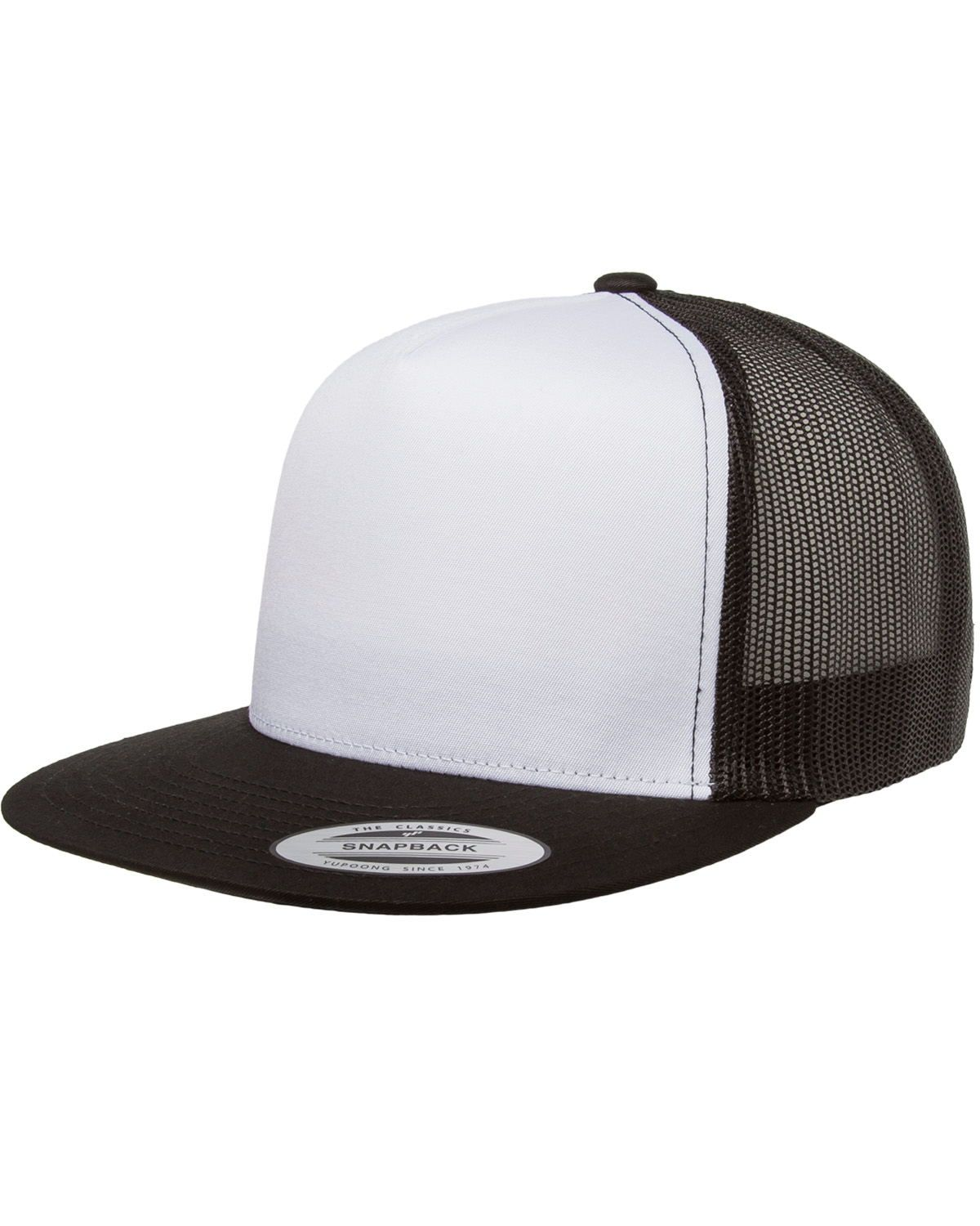 Yupoong Adult Classic Trucker with White Front Panel Cap-6006W