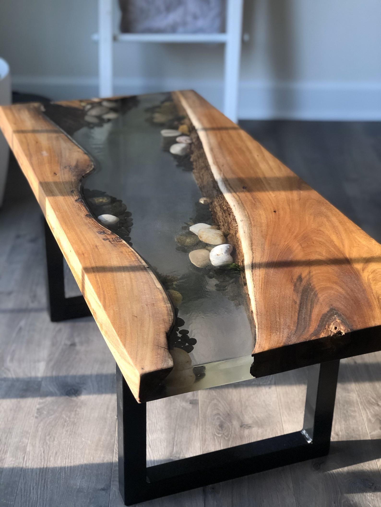 Live Edge Epoxy Resin Acacia Riverbed Coffee Table Etsy Slab Table Live Edge Coffee Table Live Edge Table [ 2117 x 1588 Pixel ]