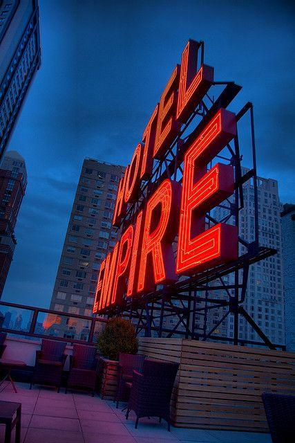 Hotel Empire Nyc Repinned Via Purple Lane Empire Hotel Hotel Exterior Exterior Signage