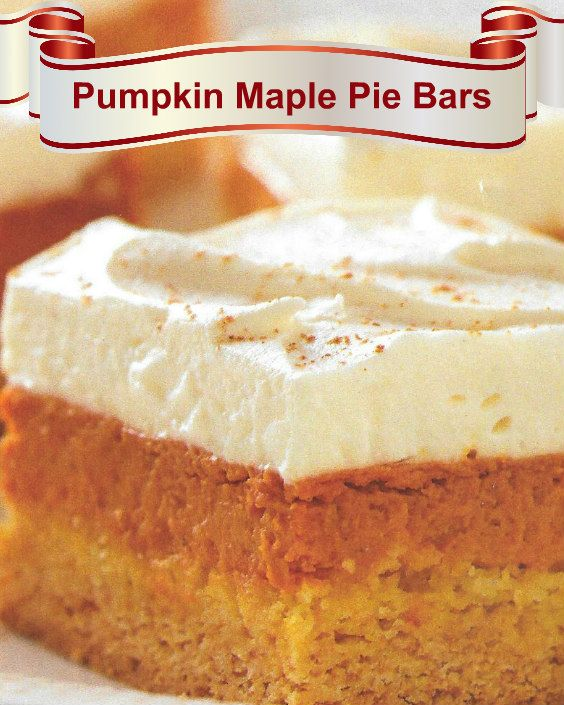 Great Pumpkin Dessert Recipe: Pumpkin Maple Pie Bars. The Best And Easiest Recipe For A