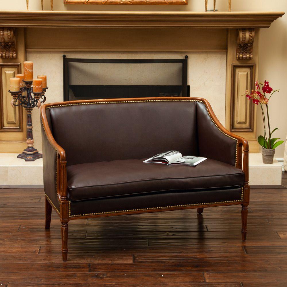 Admirable Norwalk Wood Frame Loveseat By Christopher Knight Home Creativecarmelina Interior Chair Design Creativecarmelinacom