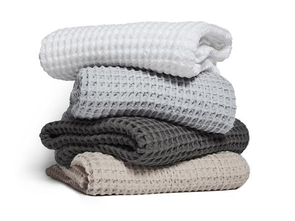 Waffle Towels Towel Parachute Home Grey Bath Towels