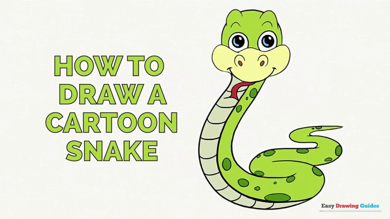 Learn How To Draw A Cartoon Snake Easy Step By Step Drawing Tutorial For Kids And Beginners C Snake Drawing Drawing Tutorial Easy Drawing Tutorials For Kids