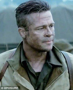 Brad Pitt Fury Haircut Danasrho Top Frisuren Haare Manner