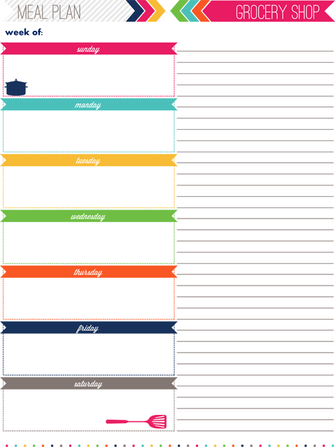 This is so perfect for me Im so wishywashy about doing this – 7 Day Planner Template