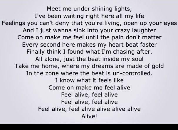 Krewella - Alive lyrics | Inspirational | Alive lyrics