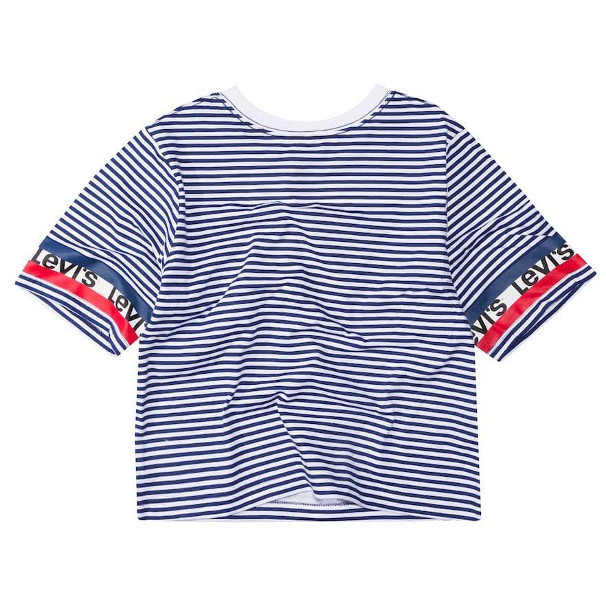 fb9204330c0 Girls 7-16 Levi's Logo Graphic Crop Top, Girl's, Size: Medium, Blue ...