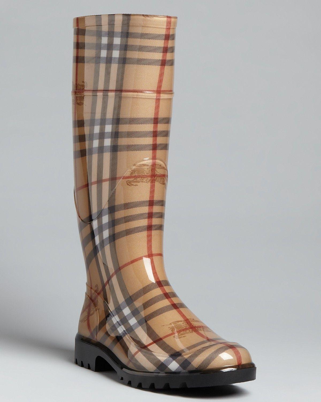 Burberry Rain Boots - Haymarket Check
