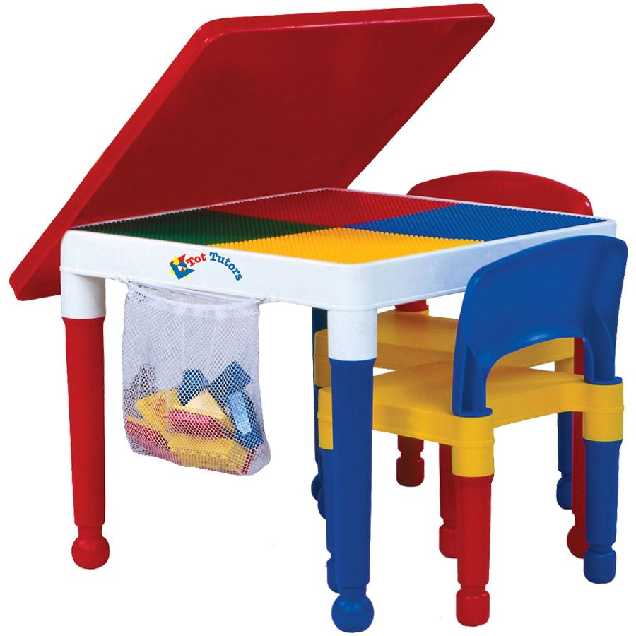 Tot Tutors 2-in-1 Construction Table and 2 Chairs | Toys R Us ...