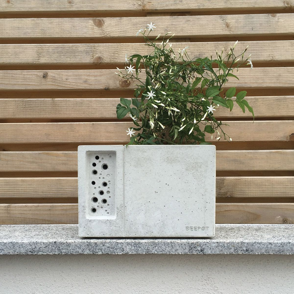 The Beepot Bee Hotel Is A Beautiful Concrete Planter Inspired By The Award  Winning Bee Brick
